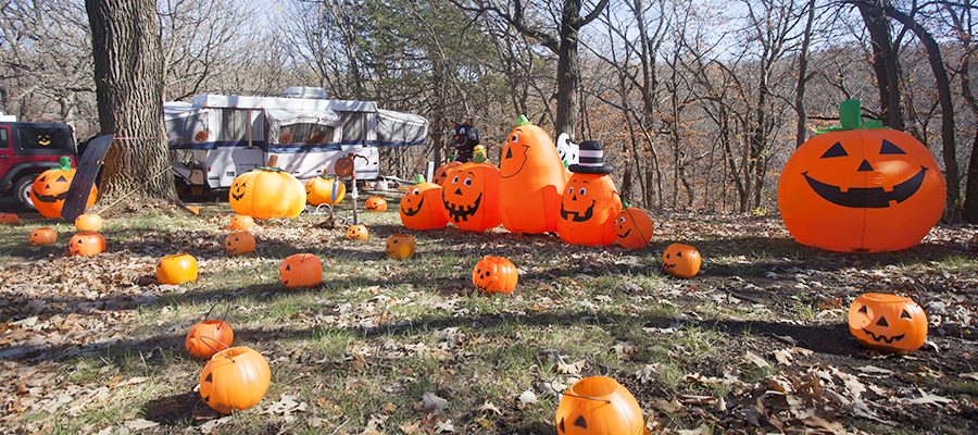 Ponca State Park. Halloween festival. Hallowfest. Pumpkin. Holiday. Campsite decorating.Ponca State Park. Halloween festival. Hallowfest. Pumpkin. Holiday.